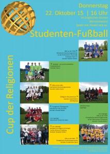 """Plakat Fußballturnier """"Cup der Religionen"""""""